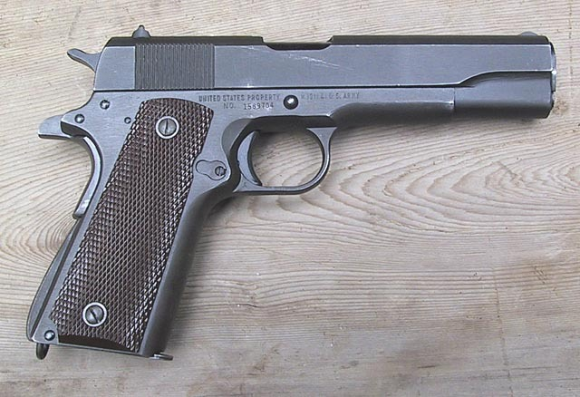 John Browning's Model 1911 pistol