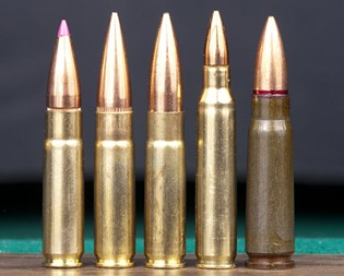 300 AAC BLACKOUT 125 grain plastic tip, 300 AAC BLACKOUT 125 grain match, 300 AAC BLACKOUT 220 grain subsonic, 5.56mm NATO, 7.62x39mm