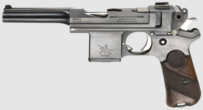 Bergmann Bayard model 1908 pistol (3-30 Name that gun)