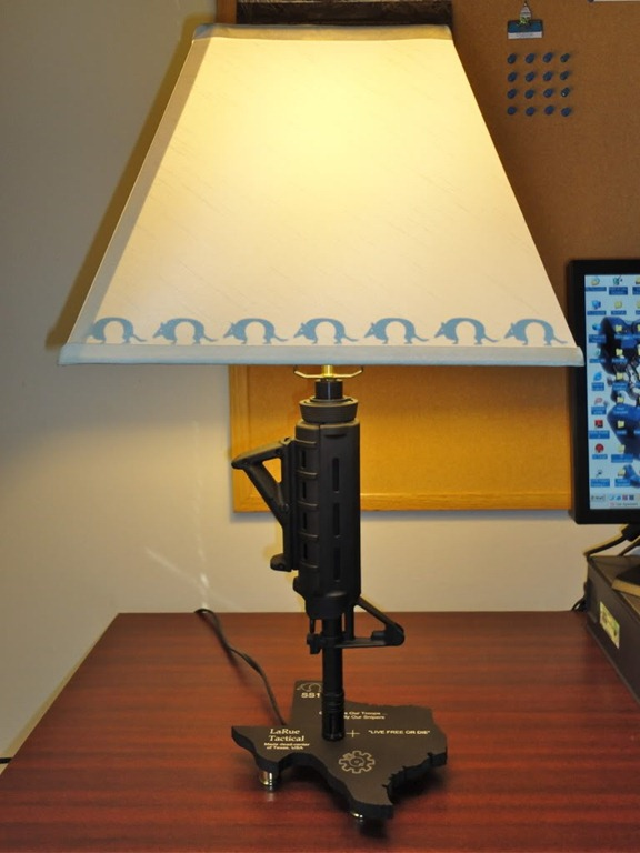 Great Gunmart Blog Found This Pretty Awesome Lamp On The AR15 Forum.