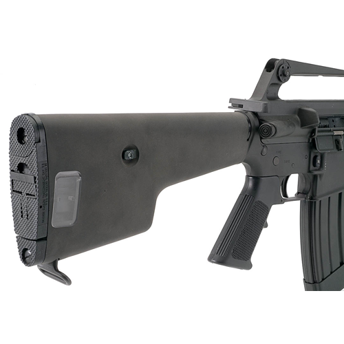 The versa pod stock lets you store a spare 20 round stanag ar 15 m16