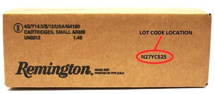 Remington Shot shell recall