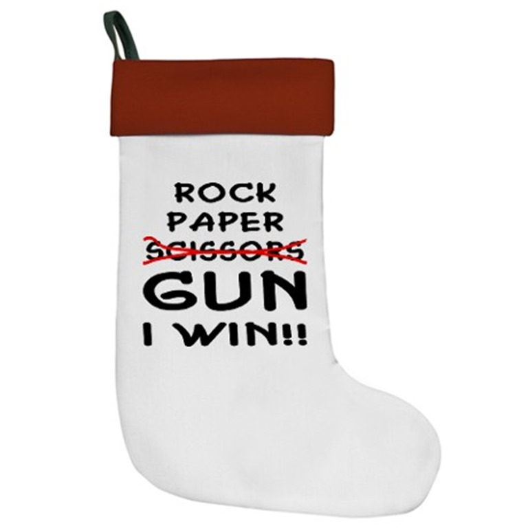 rock_paper_scissors_gun_i_win_christmas_stocking