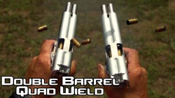Jerry Miculek shooting The Arsenal Firearms Double Barreled 1911 Pistol
