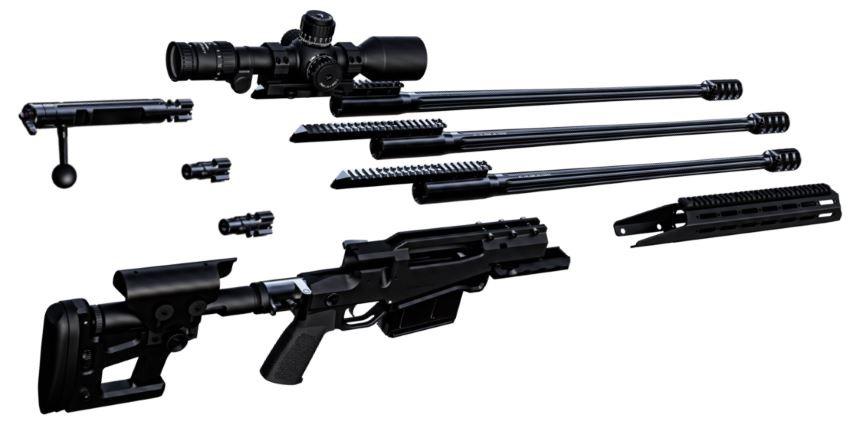 Ritter & Stark SX-1 MTR Sniper Rifle Broken Down