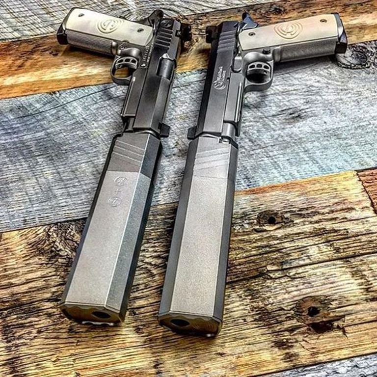 Dual SilencerCo Suppressed 1911s