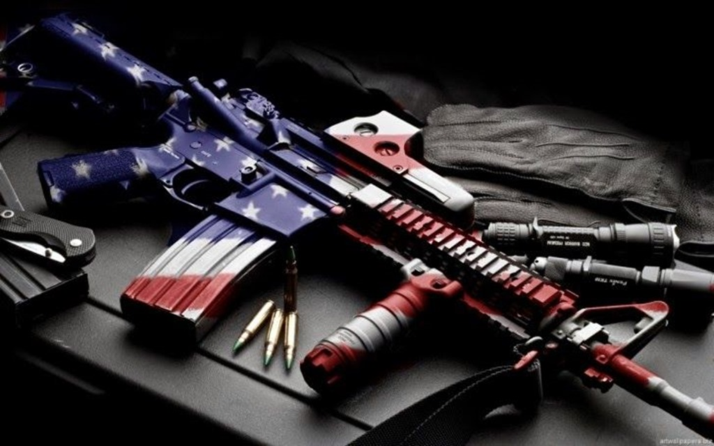 Red White And Blue AR-15