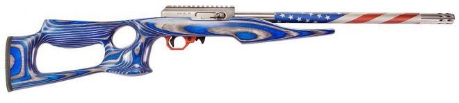 Volquartsen's Red, White & Blue 22 Rifle