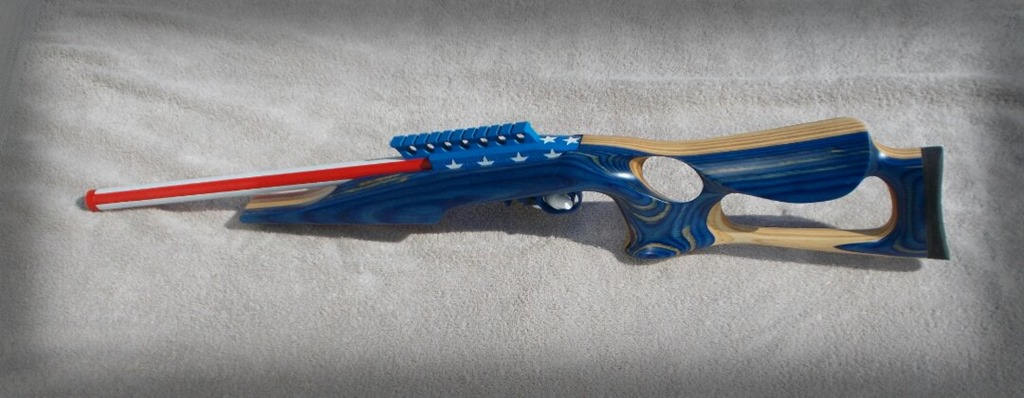 Target-rifle-customized-with-U.S.-stars-n-stripes-with-Cerakote-gun-coating-in-Alaska1