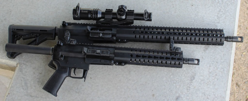 CMMG MK47 rifle and pistol