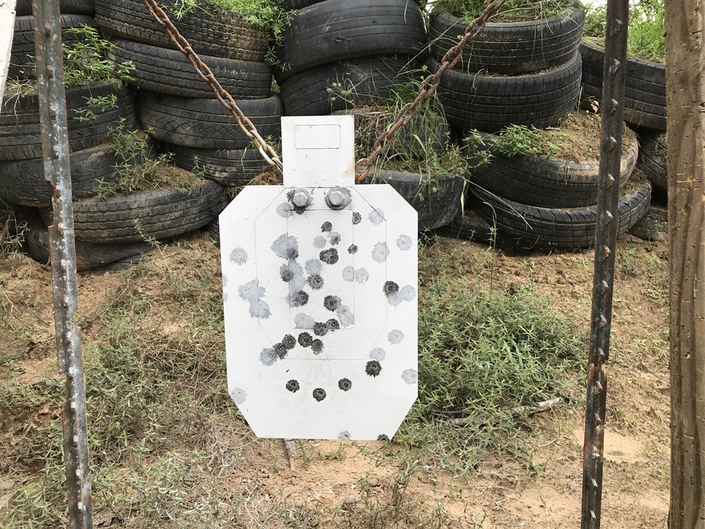 Steel after shooting from 10-50 yards