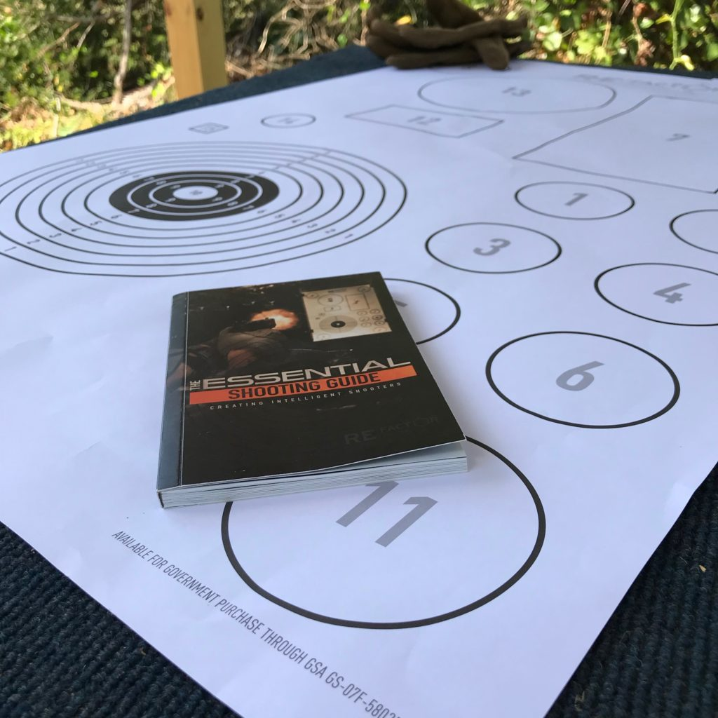 Essentials Shooting Target with the Refactor Tactical Essentials Shooting Guide