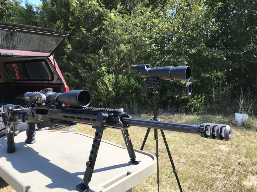 Scarab bipod on the Ritter and Stark